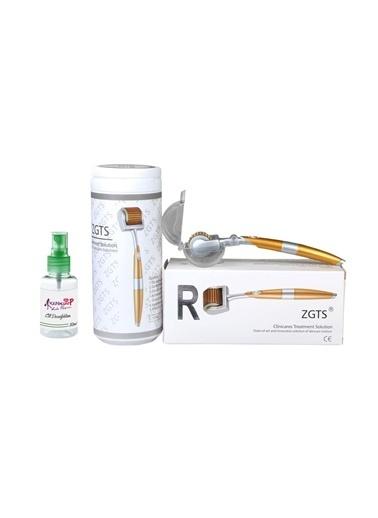 Zgts Dermaroller 1.50 mm Titanyum 192 İğneli Orijinal Gold Derma Roller Saç Yüz Vücut Renksiz